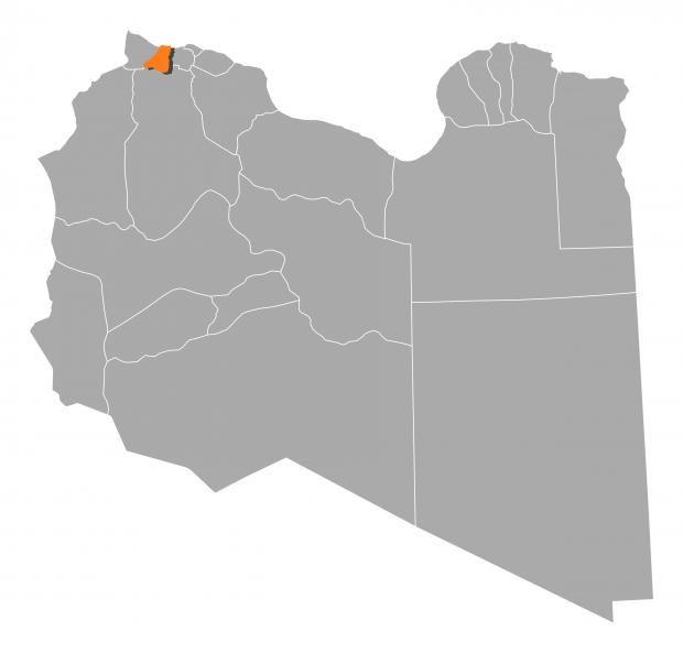 Map of Libya showing Zawiya. Photo: Shutterstock