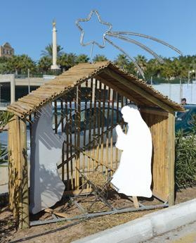 The Baby Jesus set up near the Memorial Monument in Floriana was broken in another theft attempt last week. It will now be replaced and bolted to the manger. Photo: Matthew Mirabelli