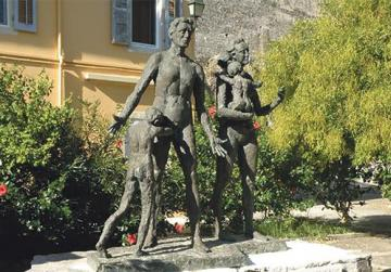 The Holocaust monument was erected in 2001 in Corfu town.
