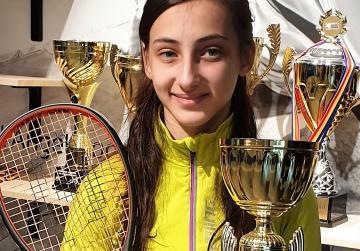 Sultana wins Romania Junior Squash Open