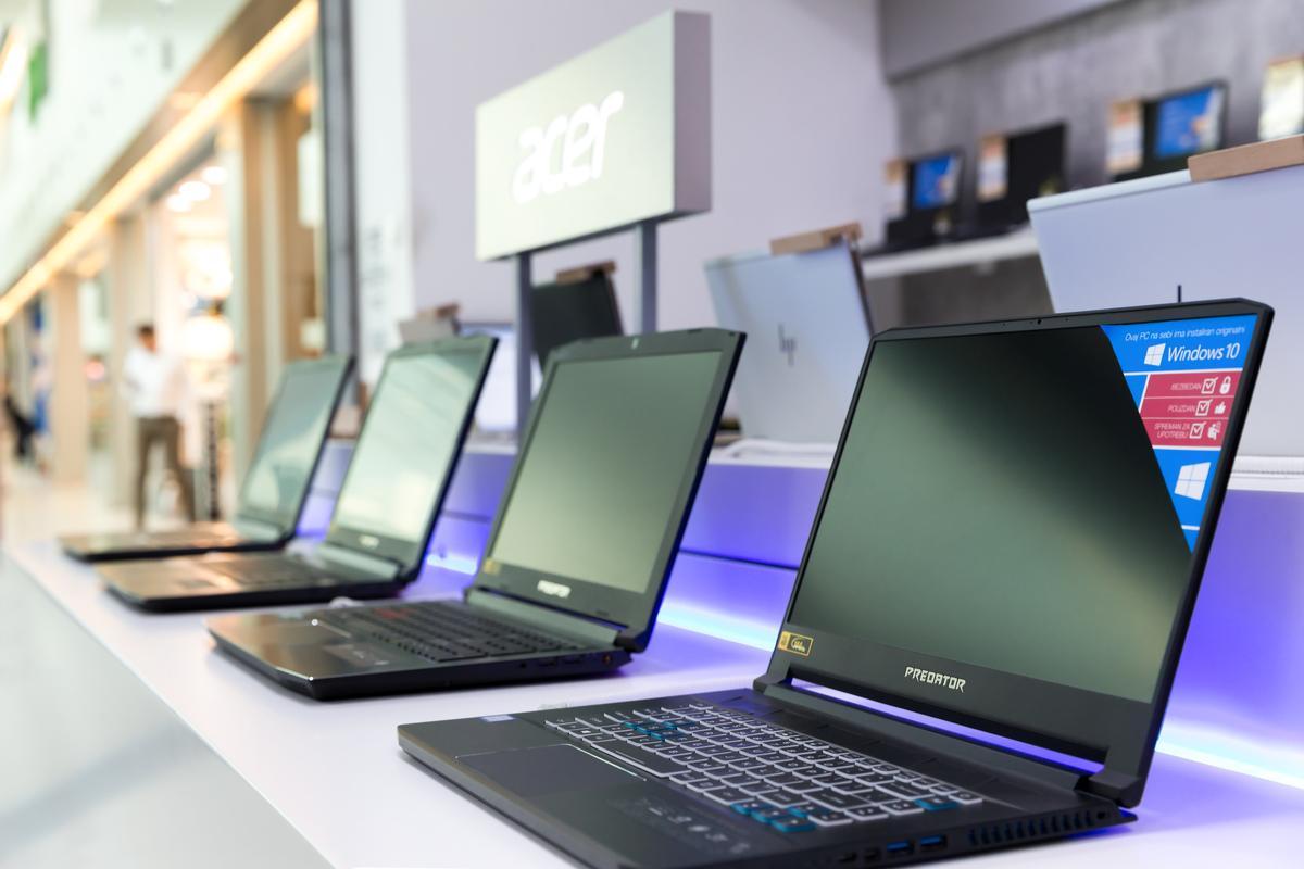 Laptop Sales Boom As Businesses Prepare For A Coronavirus Lockdown