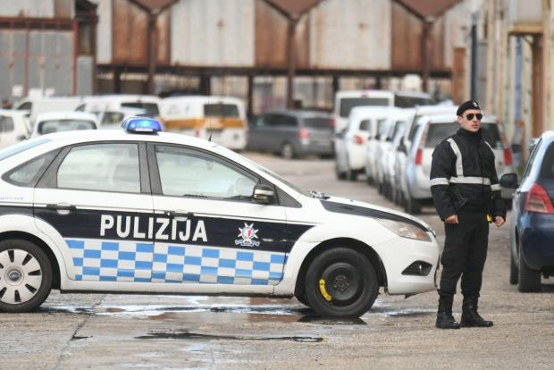 Police at Lighters Wharf, Marsa. Photo: Jonathan Borg