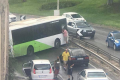 Chaos after bus skids on Regional Road