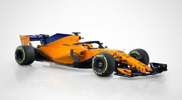 The new MCL33 car that was unveiled by McLaren on Friday.