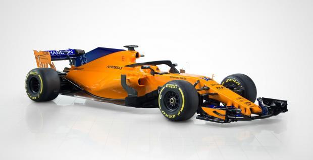 The new McLaren car for the 2018 season.