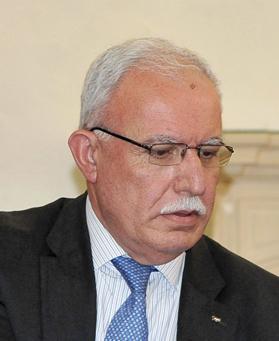 Foreign Minister Riad Malki. Photo: Chris Sant Fournier