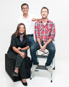 Left to right: Giannina Segnini (project manager), Rigober­to Car­vajal (data scientist) and Matthew Caruana Galizia (developer).