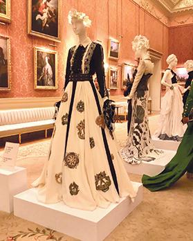 The designers' gown at Buckingham Palace.