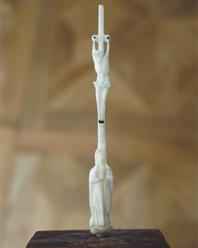 Miniature ivory crucifix, Casa Rocca Piccola Collection.