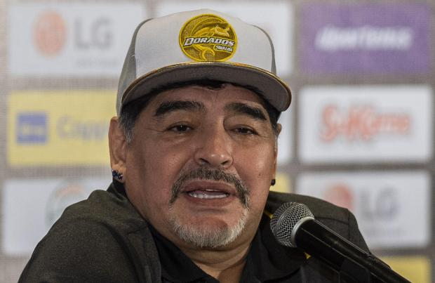 Maradona, currently coaching Mexican second division club Dorados.