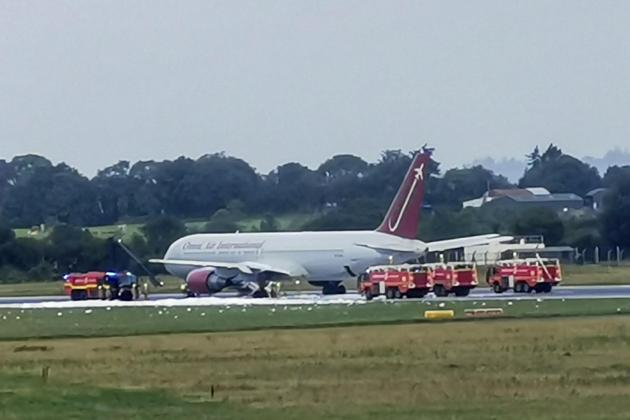 Irish airport flights suspended after runway plane fire