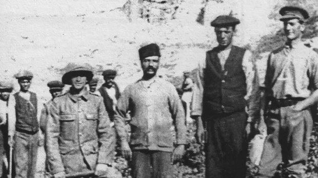 Members of the Malta Labour Corps during the Gallipoli campaign.