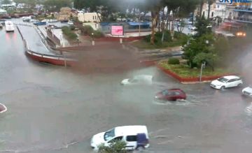 Msida was flooded after just a few minutes of rain