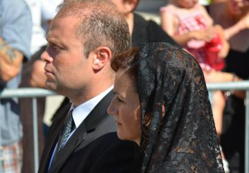 Dr Muscat and his wife Michelle. Picture: Ian Pace.