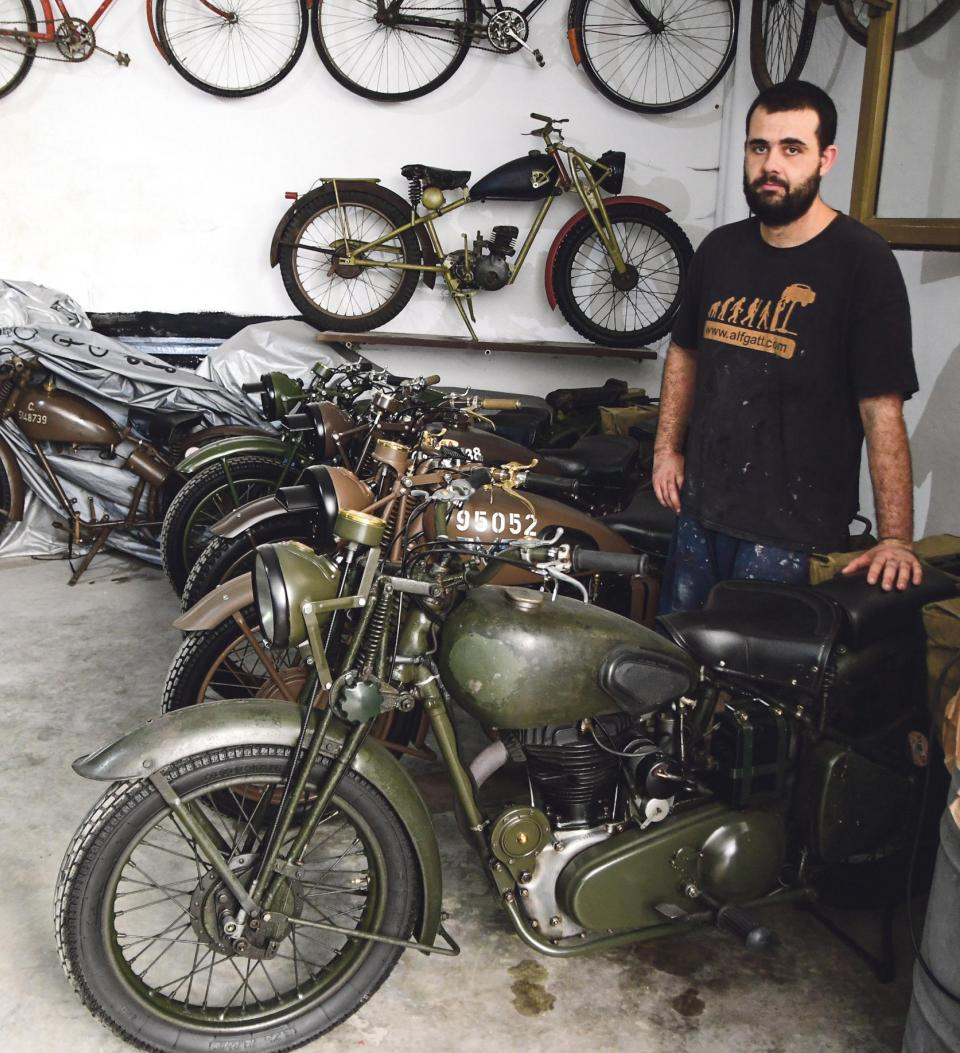 Chris Deguara has been collecting and restoring wartime vehicles for the past 11 years. Photos: Jonathan Borg