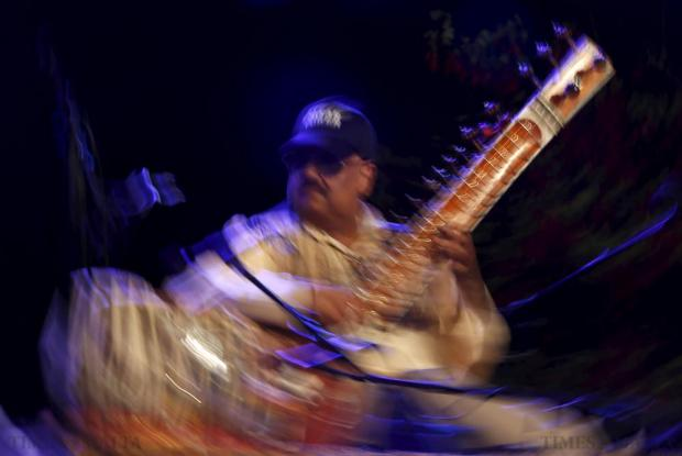 Indian sitar player Ashwin Batish performs with his Sitar Power band at the Ghanafest folk music festival at Argotti Gardens in Floriana on June 13. The three-day festival is a showcase of Maltese folksong as well as international music folk fusion music. Photo: Darrin Zammit Lupi