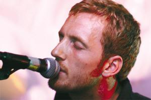 Double take: Shane Crofts as Chris Martin.