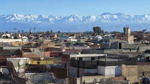 The imposing Atlas Mountains frame the city. Photos: Stephen Bailey
