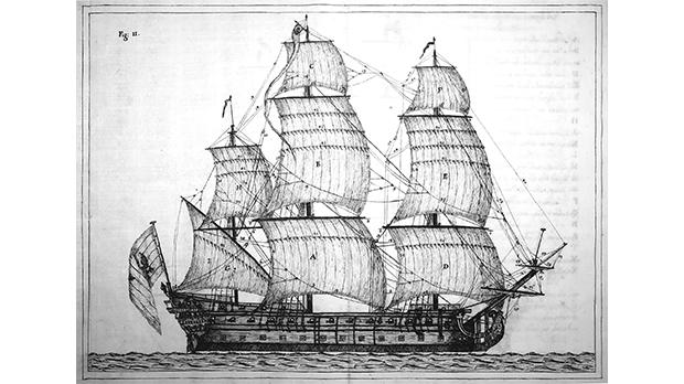 Order's ship-of-the-line with sail configuration.