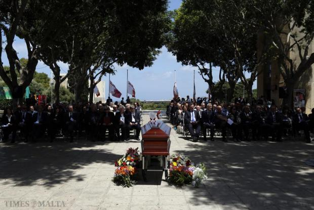 A funeral service to bid farewell to eminent medieval historian Godfrey Wettinger is held at the University of Malta in Tal-Qroqq on May 27. Professor Wettinger passed away on May 22. Photo: Darrin Zammit Lupi