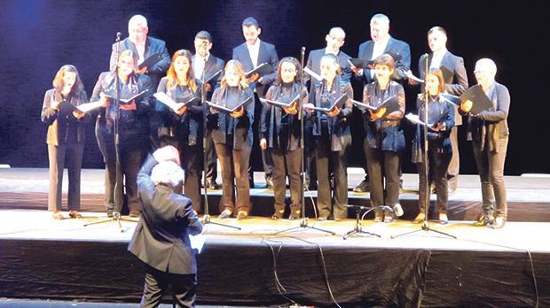 The Gaulitanus Choir performing at Bastia's Theatre Municipal during the Soirée de Gala. Photo: Annabelle Zammit