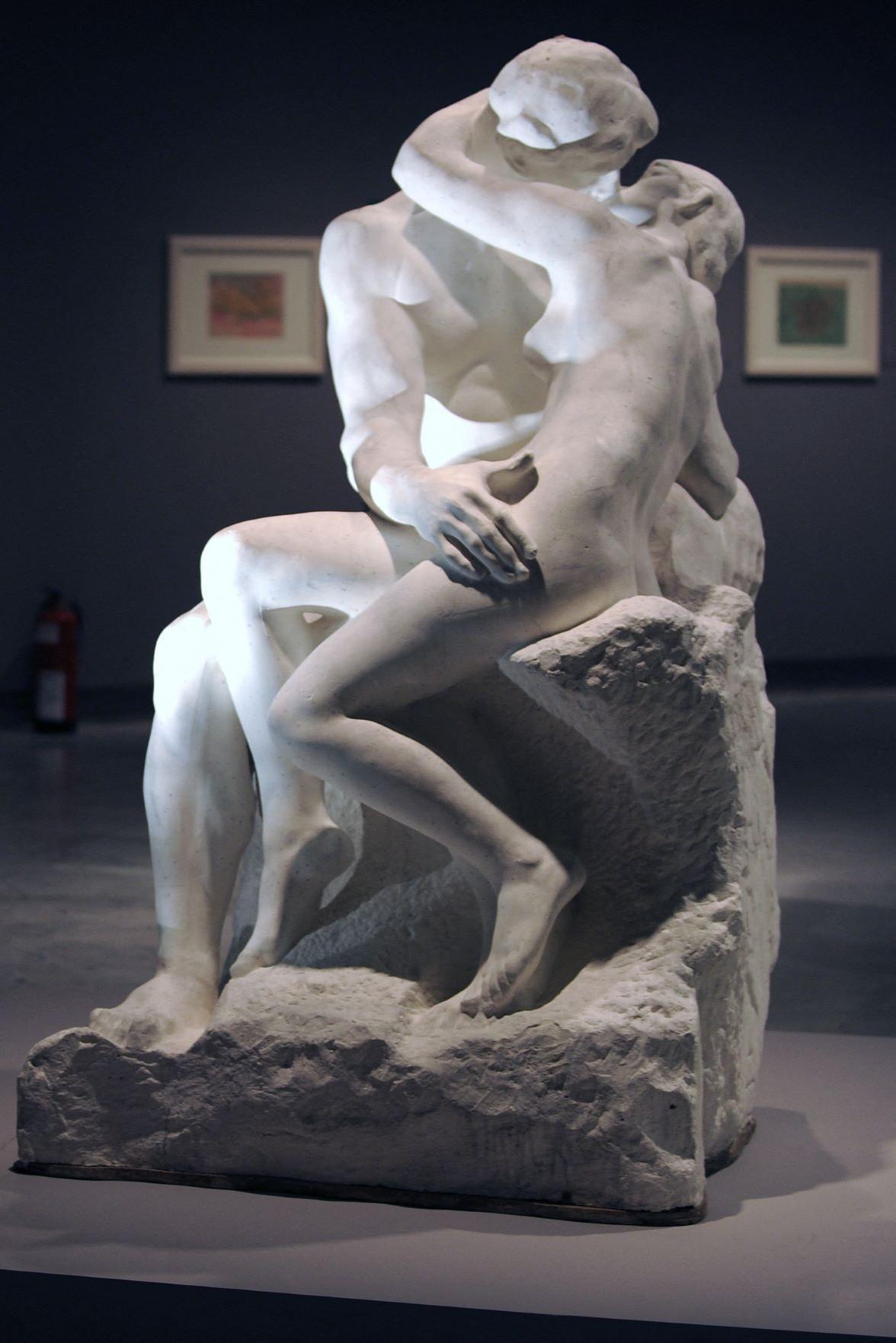 Rodin's famous sculpture 'The Kiss'. Photo: Philippe Desmazes/AFP