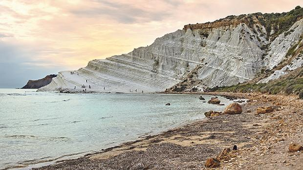Scala dei Turchi (Stair of the Turks), a rocky cliff on the coast of Realmonte, near Porto Empedocle, southern Sicily.