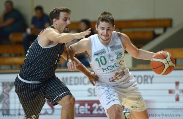 Floriana cruise past Hibs to secure a place in the Shield semi-finals at the Basketball Pavillion in Ta' Qali on October 25. Photo: Matthew Mirabelli