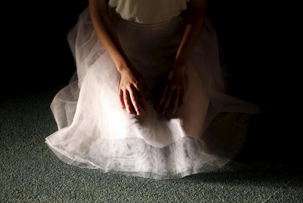 "A student of the School of Performing Arts of the University of Malta takes part in a dress rehearsal of ""White"" at the Valletta campus of the University of Malta on March 8. Photo: Darrin Zammit Lupi"