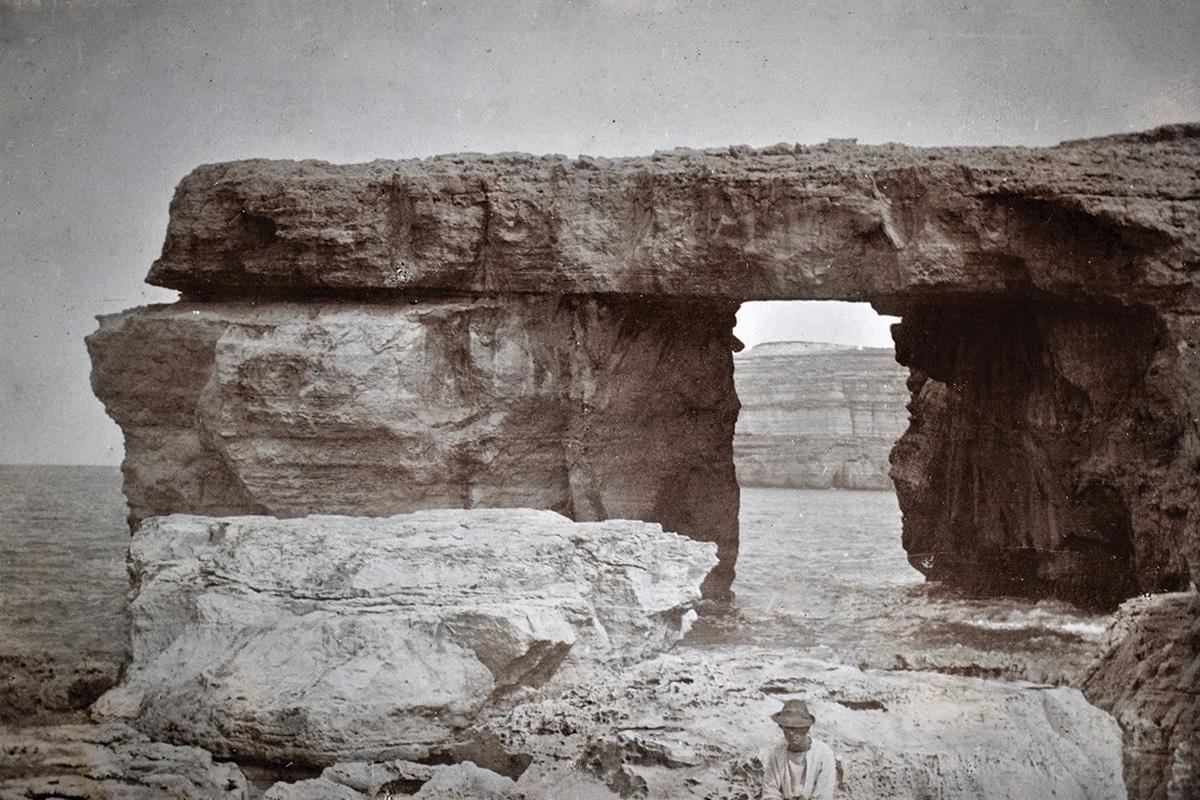 The Azure Window in the 1890s, an icon of Gozo, now vanished. Photo: Richard Ellis