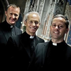 From left: Fr David Delargy and brothers Fr Eugene and Fr Martin O'Hagan.