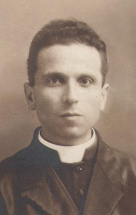 Fr Emmanuel Galea as a young priest.