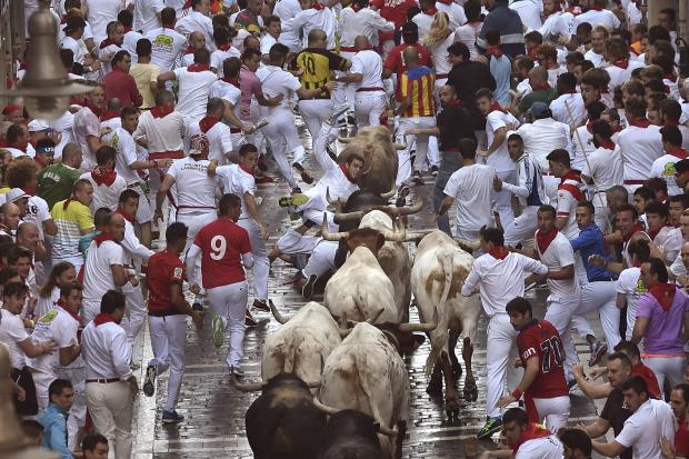 Spain: 6 gored in hair-raising Pamplona bull-run