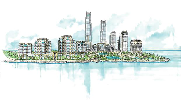 An artist's impression of the planned development.