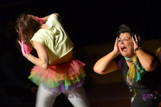 Aleateia Theatre Group performs The Drooming at St James Cavalier in Valletta as part of the Żigużajg Arts Festival on November 22. Photo: Matthew Mirabelli