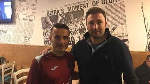 Andrew Cohen (left) with Gzira president Sharlon Pace