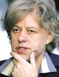 Bob Geldof addressing a news conference in Johannesburg last Tuesday. He said that unless the world`s G8 group of rich countries delivered now on pledges made last year, African leaders would instead turn to Beijing, which has adopted a no-strings attached approach to doing business in Africa.