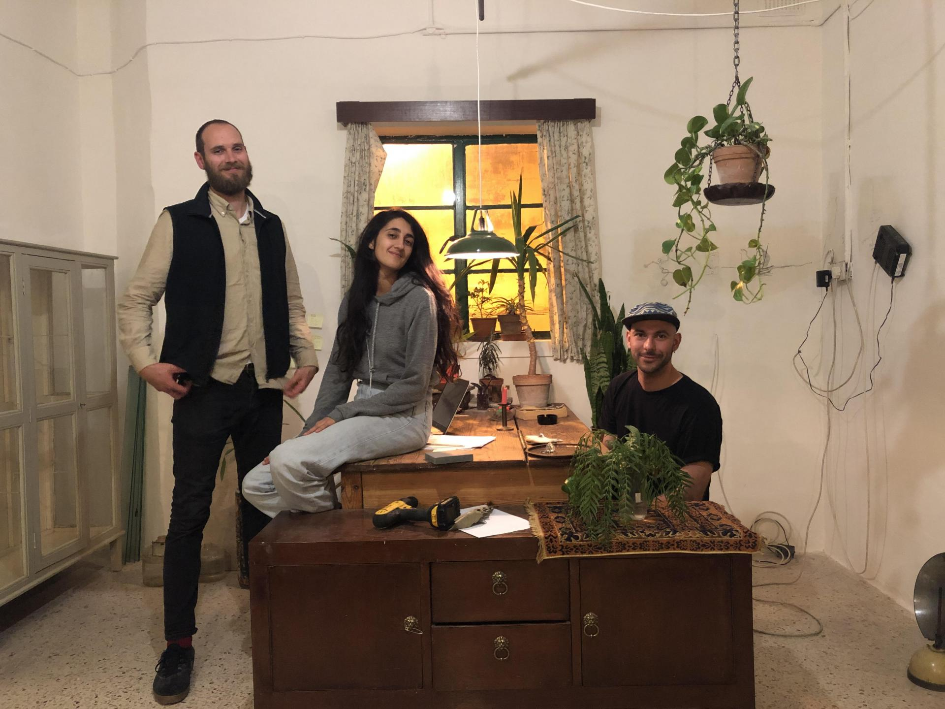 Artists Vegard Flatoey (left), Zoe Camilleri and Keit Bonnici are organising the Lockdown Festival to keep music and arts alive.
