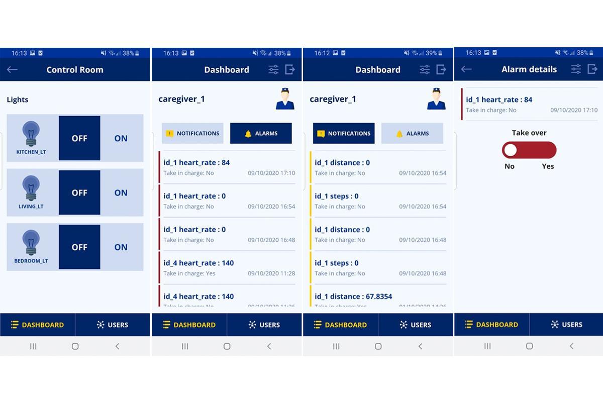 The Natiflife app dashboards