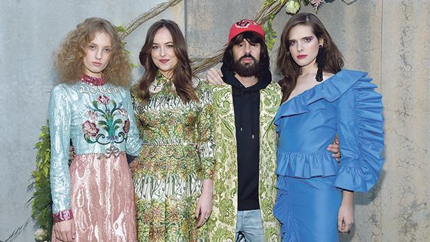 Petra Collins, Dakota Johnson, Alessandro Michele and Hari Nef.