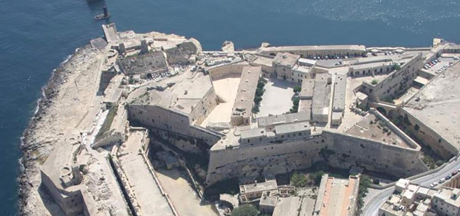 An aerial view of Fort St Elmo, Valletta.