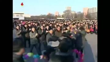 Hero's welcome for North Korea's launch team