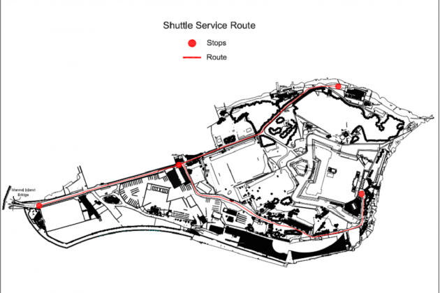 Free shuttle service for bathers at Manoel Island