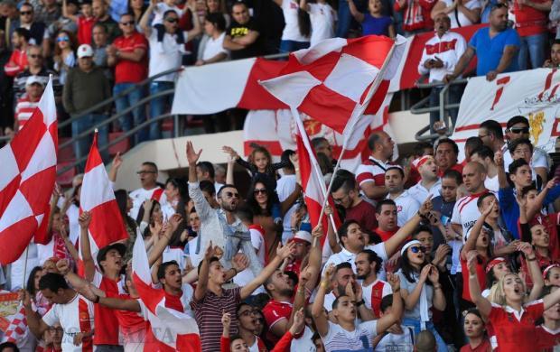 Valletta fans cheer before their Premier League match against Birkirkara at the National Stadium in Ta' Qali on April 17. Photo: Steve Zammit Lupi
