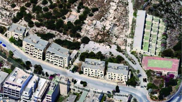 An aerial view of the Mistra Village complex. Photo: Planning Authority