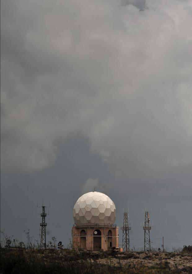 The air traffic radar station at Dingli Cliffs on June 20. Photo: Chris Sant Fournier