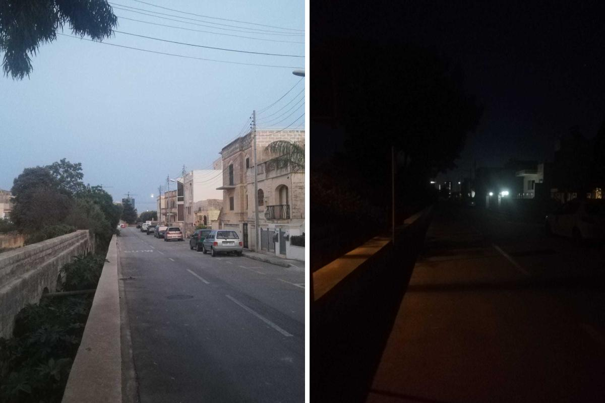 Streetlights have been off for three months. Photos: Giulia Magri