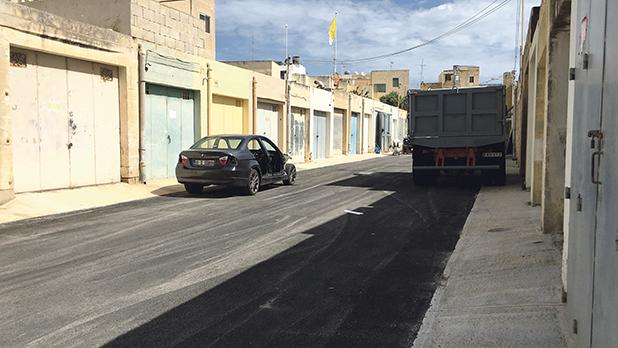 Fresh tarmac on private road in Żebbuġ, laid by Infrastructure Malta.