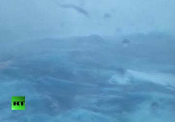 Cruise ship battered by Atlantic storm, four hurt