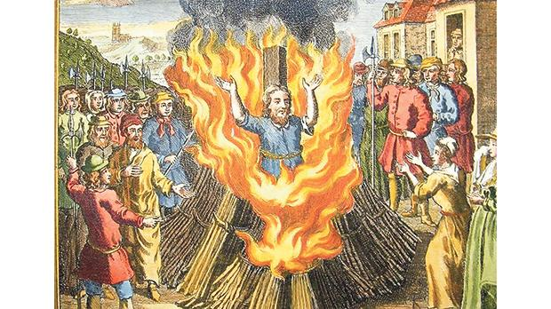 Execution by fire of a heretic.